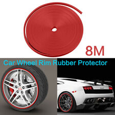 8M Car Wheel Rims Rubber Protector Vehicle Tire Guard Motors Line Moulding Decor