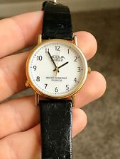 Vintage Men's Timex Acqua Indiglo Gold Watch Quartz