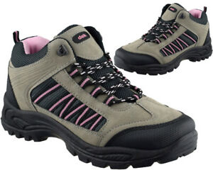 Womens Hiking Walking Boots Ankle High Trail Trekking Lace Up  Shoes Trainers