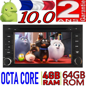 4GB ANDROID 10.0 SEAT LEON 2014 VOITURE RADIO DVD GPS USB CAR WIFI CD OCTA CORE