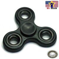 Tri Three Arm Basic Green Fidget Spinner Stainless Steel Metal Ring /& Bearing