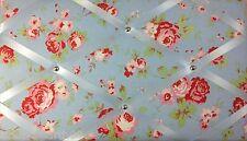 Cath Kidston Blue Rosali Rose Fabric, Pin board Notice Boards Memo Message Board