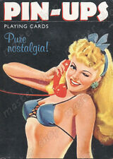 PIN-UPS PLAYING CARDS DECK, RUMMY - ORIGINAL PIATNIK #1429 - 55 cards, Piatnik