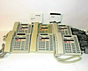 LOT OF 6 Aastra M9316CW Hands-Free Single Line Phones with Power Adapters