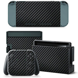 Carbon Fibre Vinyl Decal Skin Cover Full Wrap Protector for Nintendo Switch