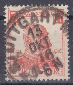 Altdeutschland / Württemberg Mi. Nr. 242 1917 7 1/2 Pf. Dienstmarke USED