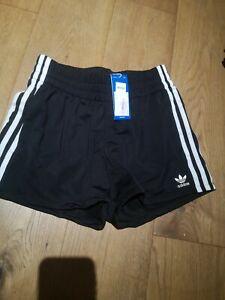 Adidas 3 Stripe Original Shorts Size 8