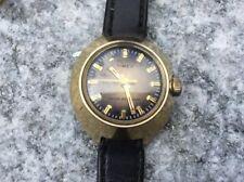 Orologio Timex Meccanico Lady Gold Tone Disco Volante Ufo Vintage