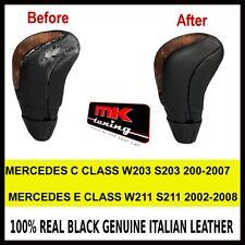 Mercedes W203 S203 W211 S211 Genuino Cuero Manual Gear Perilla cubierta sólo