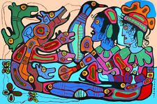 Norval Morrisseau Limited Edition Print on canvas