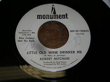 Robert Mitchum 60s POP MALE VOCAL DJ 45 Little Old Wine Drinker Me / Walkers Woo