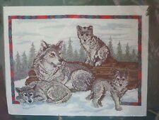 Wolf Family Natures Window Counted Cross Stitch Kit 5404 New Animal Wolves