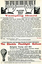 1926 small Print Ad of Vamping Board & Electric Flashlight Balloon