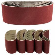 5pcs 75x457mm 3inch*1inch Sanding Belts Grit 60 80 100 120 240 Sander Tool