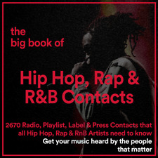 The BIG BOOK of 2670 HIP HOP, RAP, TRAP, GRIME & R&B Music Industry Contacts
