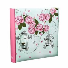 ROSA VINTAGE 6x4 álbum de Fotos Capacidad 200 Deslizamiento en estuche Memo Book