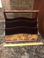 Anister Gifts~Mail/Letter/Bill Holder Desk Organizer~Nature Design~ Wild Animals