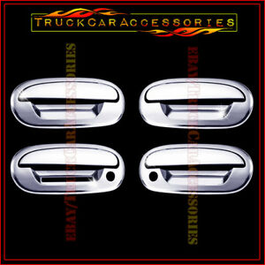 For FORD F150 1997-2003 +Expedition 97-2002 Chrome 4 Door Handle Covers KEYPAD