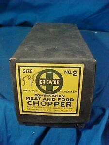 MIB 1930s GRISWOLD No 2 Combination MEAT + FOOD CHOPPER