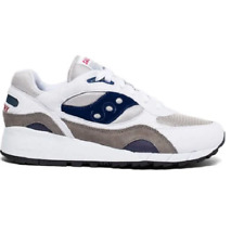 MENS SAUCONY SHADOW 6000 CLASSIC WHITE GRAY BLUE RUNNING SHOES SIZE 9.5M Q502