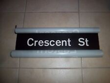 NYC SUBWAY SIGN R27 NYCTA 1974 CRESCENT STREET BROOKLYN NY MYLAR ROLL SIGN ART