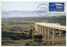 CARTE MAXIMUM  TGV ATLANTIQUE 2001 MARSEILLE MEDITERRANEE VIADUC DE VENTABREN