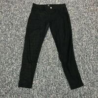 New York & Company Womens Size S Stretch Casual Pull On Pants Black Cotton Blend