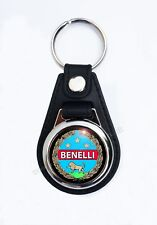 BENELLI MOTORCYCLES FAUX LEATHER KEY RING / KEY FOB.CLASSIC ITALIAN MOTORCYCLES