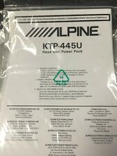 /////ALPINE KTP-445U Head Unit Powerpack Owners Manual