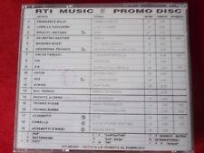 RTI PROMO MUSIC 2   PROMO DISC CD  RARISSIMO TIMBRO SIAE A SECCO