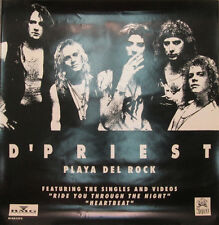 D'Priest Playa Del Rock, orig Noise/Bmg promotional poster, 1989, 12x12, Vg+