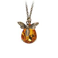 Schmuck Kette Crystal Bee und Honig Halskette Goldener Strass sp