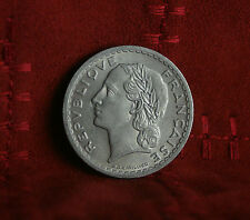 1945 France 5 Francs World Coin KM888b.1 WWII Liberty Head half dollar size