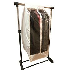"""Full Garment Rack Closet Rod Cover 16""""W x 22""""D x 42""""H in Off White (Cover Only)"""