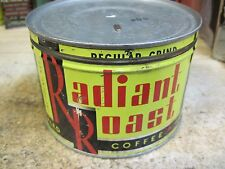 RADIANT ROAST VACUUM PACKED 1 LB COFFEE CAN STORE ORIGINAL TWIN CITY GROCER CO