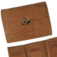 Salmon Fly Nubuc Leather Wallet