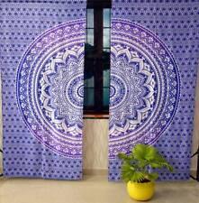 Purple Color Ombre Mandala Wall Hanging Door Window Curtain Tapestry Indian Art