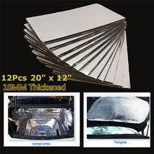 12 Pcs 10mm Thickened Autos Roof Door Noise Insulation Sound Heat Deadening Mats