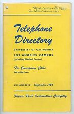 Sept 1956 Telephone Book from University of California Los Angeles, UCLA
