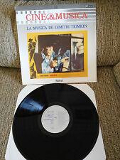 "LA MUSICA DE DIMITRI TIOMKIN SOUNDTRACK LP VINYL 12"" 1987 VG+/VG+ SPAIN ED"