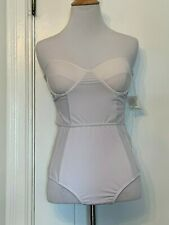 Cantik One Piece Swimwear Bathing suit in white ties in back size L
