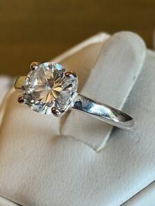 Ladies Vintage Solitaire Dress Ring Size Q