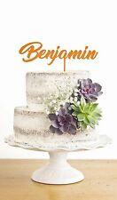 Personalised Cake Topper Decoration Party Celebration Sizes + Colours Acrylic C