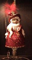 African American Lady in Red Ornament