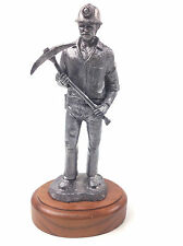 """MICHAEL RICKER PEWTER """"MINER"""" """"Jason"""" Numbered & Signed 1983 Sculpture"""