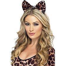 CHEETAH BOW ON HEADBAND LADIES ANIMAL FANCY DRESS COSTUME ACCESSORY