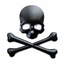 3D SKULL CROSSBONES SKELETON CUSTOM BADGE EMBLEM DECAL STICKER CAR BIKE REAPER