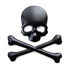3d Cráneo Con Huesos Esqueleto Custom Insignia Emblema Decal Sticker Auto Moto Segador