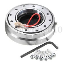 Car 6 Hole Racing Steering Wheel Quick Release Hub Adapter Snap Off Boss Silver