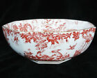 """RED AVES by Royal Crown Derby Octagonal Bowl 8.25"""" NEW NEVER USED made England"""